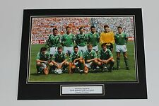 STAPLETON & GALVIN Ireland ROI HAND SIGNED Autograph Photo Mount Display + COA.
