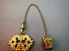 Antique Bates & Bacon Gold Filled Watch Fob Chain Chatelaine Spring Catch 1903