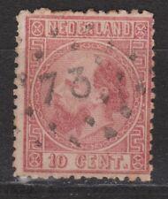 NVPH Netherlands Nederland 8 TOP CANCEL MAASTRICHT 73 Willem III 1867 3e emissie