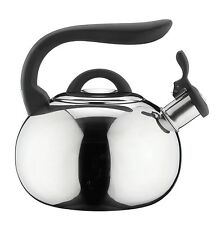 Cafe Ole Stove Top Whistling Kettle 3 Litre Mirror Stainless Steel