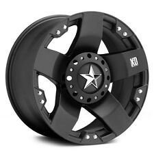 17 inch Black XD Series Rockstar Wheels Rims Jeep Wrangler JK 5x5 5x127 Set of 4