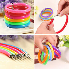Best 10 Pcs Novelty Ballpoint Pens Wristband Bangle Bracelet Colorful Hot New