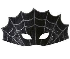 Black Spiders Web Eye Mask Eyemask Black Widdow Spider Halloween Fancy Dress