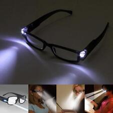 Unisex Rimmed Reading Eye Glasses Spectacal Night Reading Glasses With LED Light