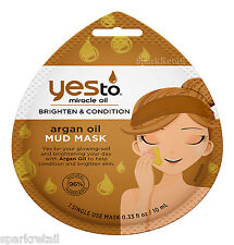 Yes To Miracle Oil Brighten & Condition ARGAN OIL Single Use Mud Mask 10ml