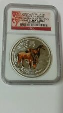 2014 Australia S$1 Year Of The Horse Colorized-Early Releases Pf 69 Ultra Cameo