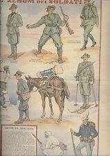 corriere dei piccoli    soldatini  soldati esercito italiano ALPINI  anni 30