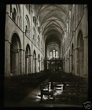 Glass Magic Lantern Slide THE NAVE CHICHESTER CATHEDRAL C1900 ENGLAND L101