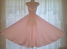 Vtg Perfect Pink Full Sweep OLGA Nightgown Negligee Gown 92270 S M