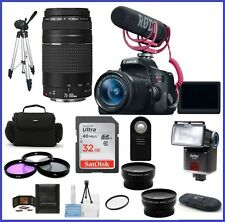 Canon EOS Rebel T6i with 18-55mm Lens Video Creator Kit & 75-300mm f/4-5.6 III