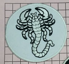 #028 Scorpion Biker Patch Embroidered Iron/Sew On Jacket Jeans Black White patch