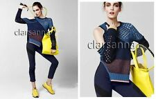 $1175 Prabal Gurung Cutout Slit Side Shoulder Colorblock Mixed Knit Sweater M
