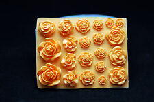 Silicone Mold Fondant Polymer Clay Soap Making Molds Melting Wax Resin,21 Roses