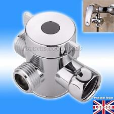 3 Way Shower Splitter Valve Adapter Diverter Flow Control Hand Shower Component