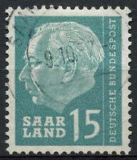 Saar 1957 SG#385, 15f President Heuss Definitive Used #A81315