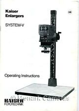 Kaiser Instructions for VCE 7002 & VPE6002 AF Enlargers, Other Manuals Listed