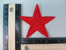 US SELLER-red star iron on embroidered patch applique/ sew-on cloth badge