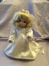 "PRECIOUS MOMENTS 12"" DOLL Bride Blonde"