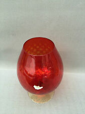 grand verre en verre rouge vase déco vintage french antique
