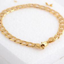9k Real  Gold Filled Mens Bracelet