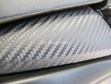 "3D Carbon Fiber Matte Black Vinyl 12""x24"" Wrap Sticker Sheet Bubble Air Free CF"