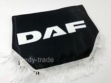 DAF Window Shield Pelmet Curtains Windscreen Waveform with Logo Emblem Black