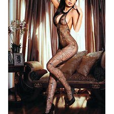 Women Ladies Hot Sexy Mesh Spider Net Lingerie Sleeveless Open Crotch Jumpsuit
