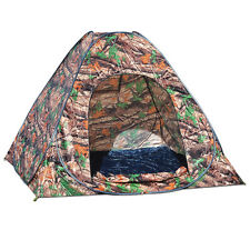 NEW Portable Camouflage Camping Hiking Instant Tent pop up 2/3 Persons Mosquito
