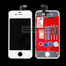 For White iPhone 4 Front Complete LCD Glass Display Touch Screen Digitizer+tools