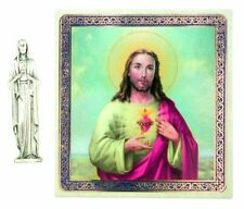 Sacred Heart Pocket Statue and Holy Card NEW SKU TC566