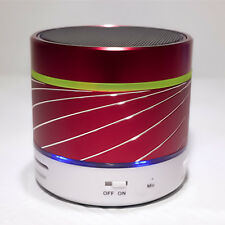 S07U LED Mini Bluetooth Speaker Subwoofer Support SD TF Card FM Radio Red
