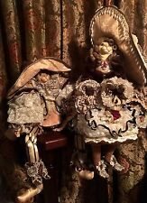 Set of 2 Katherine's Collection Extravagant Cat Retired Large Dolls *NEW