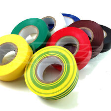8 ROLLS 19mm x 20m ELECTRICAL PVC INSULATION TAPE FLAME RETARDANT 8NORM