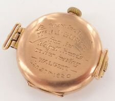 SUPER RARE 1916 ROLEX 9CT GOLD LADIES WALGETT, NSW PRESENTATION WATCH, WORKING