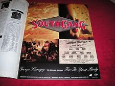 SOUTHGANG - 1992 US Full-Page Color Ad 'Group Therapy ' Album Release