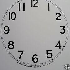 """One Arthur Pequegnat Clock Dial 7 1/2"""" Dia. Arabic Kitchener - Antique Parts"""