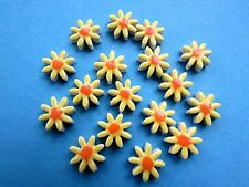 17  handmade ceramic mosaic  yellow flower daisy shape tiles