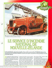 Fire apparatus engine National Service of New Zealand Pompier FICHE FIREFIGHTER