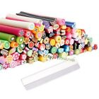 100Pcs Cute 3D Nail Art Fimo Canes Rods Decoration + Fimo Canes Rods Blade