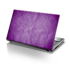 "TaylorHe 15.6"" Laptop Vinyl Skin Sticker Decal Purple Scrunched Up Paper 2096"