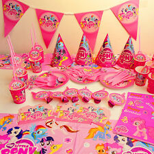 My Little Pony Tableware Set Baby Shower Birthday Party Supplies for 10 Kids