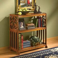 18th Century Replica Gothic Patterned Fretwork Bookcase Wood Book Shelf