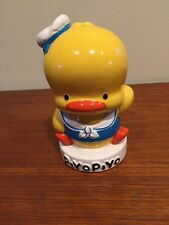 Piyo Piyo Yellow Baby Duck Ceramic Piggy Coin Bank, Still - Rare, HTF, Cute