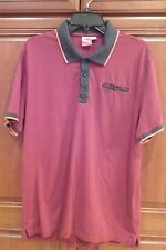 PUMA MEN'S COLOR BLOCKED POLO SHIRT MAROON/GREY/ORANGE FRONT POCKET XL '