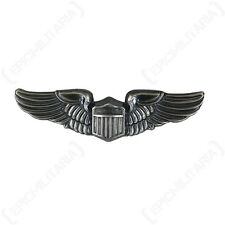 US Army Air Force PILOT WINGS Metal Uniform Badge USAAF USAAC WW2 Corps Rank Pin