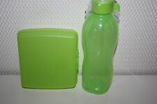 Tupperware Pause Set Eco Easy Trinkflasche 500 ml Sandwich BOX Dose grün NEU