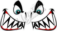 Boat Jaws (Boat Bow Graphic) - 750mm x 400mm - Boat Marine Decal