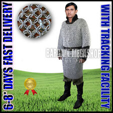 Aluminum Chainmail shirt Round Riveted 10MM Anodised  ~LARGE SIZE~  FULL Sleeve