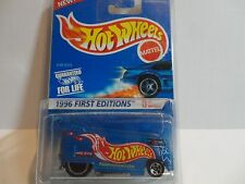 Hot Wheels #372 Blue Volkswagen Drag Bus First Edition