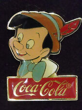 1986 Disney WDW Coke 15th Anniversary Coca-Cola Pinocchio LE 1000 Set Pin